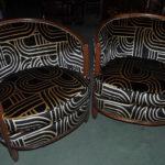 Paire de fauteuils tonneaux époque art déco