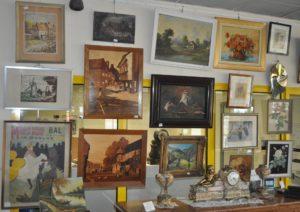 Tableaux aquarelles huiles dessins gravures marqueteries